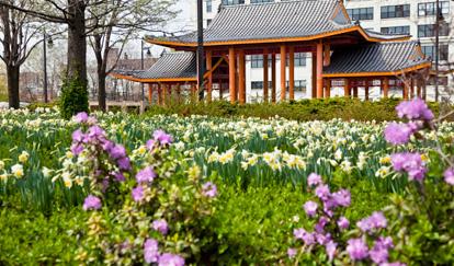 Ping Tom Memorial Park in Chicago's Chinatown neighborhood
