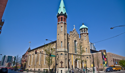 Originally built in the 1850s, Old St. Pat's Church in the West Loop survived the Great Chicago Fire of 1871.