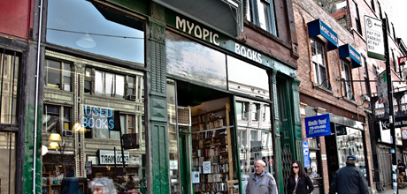 Browse thousands of used books at Myopic Bookstore in Wicker Park.