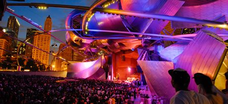 Listen to a free concert tonight at the beautiful Pritzker Pavilion in Millennium Park!