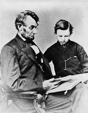 Abe Lincoln and his son