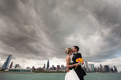 Lake Michigan's vicissitudes make for a dramatic backdrop in a portrait with your sweetheart.