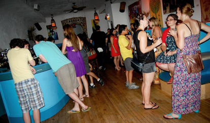 A summer social event at at HI-Chicago