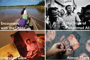 Stills from the four films featured at Kartemquin KTQ Lab's Spring Showcase